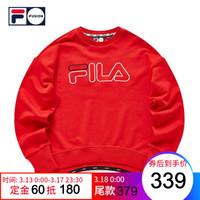 FILA FUSION 斐乐女套头卫衣2020新款潮流背后数字休闲女卫衣 红色-RD(宽松版型,建议拍小一码) 160/80A/S *3件