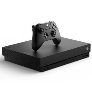 Microsoft 微软 One X 游戏机 黑色 1TB 蓝宝石手柄 同步套组
