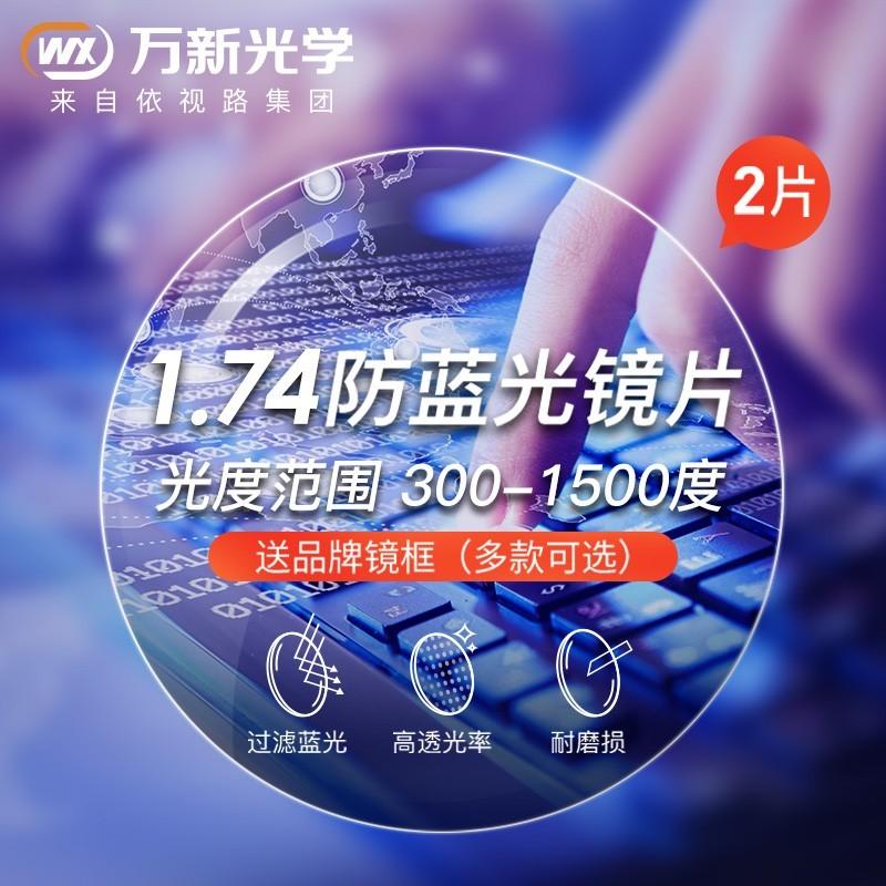 WAN XIN 万新 防蓝光非球面近视镜片 HD42081 1.74 2片