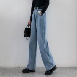 UROU 6182 女士高腰阔腿裤