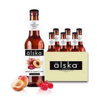 英国艾斯卡水蜜桃树莓味啤酒 进口Alska艾斯卡啤酒 *2件