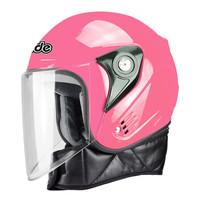 戴德 电动摩托车头盔男 围脖款 粉色 送防雾剂