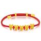 ZSK 珠宝 3D硬足金 五福鼠红绳手链 379元包邮(需用券)