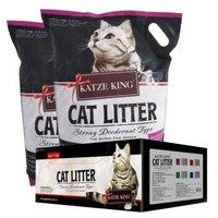 铠泽金(KATZEKING)膨润土猫砂 低粉尘结团猫沙 整箱 条+球猫砂10L*2包 *2件
