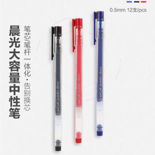 值友专享 : M&G 晨光 AGPY5501 大容量中性笔 红色 0.5mm 12支