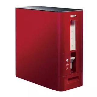 阿司倍鹭 ASVEL S计量米缸 家用米桶自动出米定量米箱 12KG红色7528-02