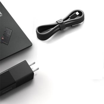 Lenovo 联想 thinkplus口红电源 Type-C笔记本适配器 黑色
