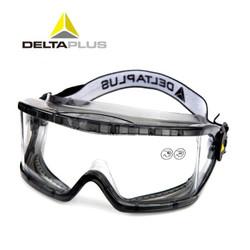代尔塔(Deltaplus)防护眼镜护目镜防雾防刮擦防风沙防液体喷溅防防化劳保骑行挡风眼罩101104 透明色1副装