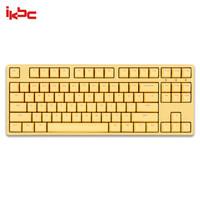 ikbc W200 机械键盘 2.4G无线 游戏键盘 87键 cherry轴 樱桃轴 无线机械键盘 黄色 红轴
