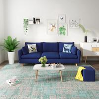 北欧布艺沙发小户型乳胶沙发小户型 三人位