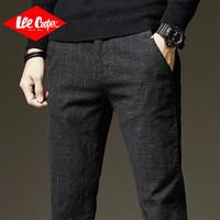 Lee Cooper男士休闲裤秋季款直筒修身男裤小脚裤子男潮流个性商务男式休闲裤 *3件
