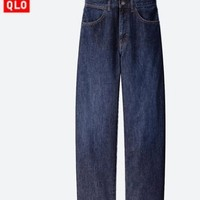UNIQLO 优衣库 U系列 422414 女士宽腿廓形牛仔裤