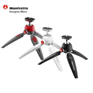 曼富图 MTPIXI EVO 新款微单单反相机迷你自拍桌面三脚架 红白黑