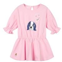 Hush Puppies 暇步士 女童长袖连衣裙 HPOCGX51CZ782 粉色 80cm