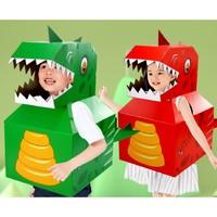 亲子手工DIY 儿童恐龙纸趣萌穿衣