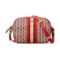 TORY BURCH 湯麗柏琦 女士帆布涂層橫款斜挎包 57743-939 紅色 18/6/12.5