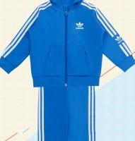 adidas 阿迪达斯 运动套装系列 ED7680 男童连帽运动套装 蓝色 92