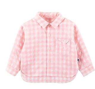 Oissie 奥伊西 儿童格子衬衫  ZC009 粉色 90cm