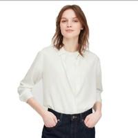 UNIQLO 优衣库 女士花式长袖衬衫 424642000 白色 155/80A/S