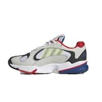 Adidas 三叶草 YUNG 中性休闲运动鞋 EH0868 石膏白/黑/红/亮黄荧光 36