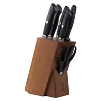 TUOBITUO 拓 飞鱼系列 TE07B 厨房实用刀具七件套 黑色