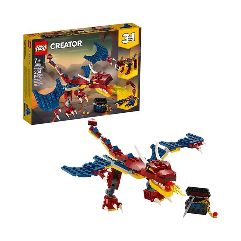 百亿补贴 : LEGO 乐高 创意百变系列 31102 喷火飞龙