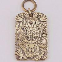 微信端 : 中国风铜饰黄铜挂牌吊牌生肖钥匙扣吊坠