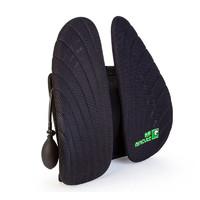米乔 人体工学减压腰靠气动调节3D透气网格护腰背车载靠垫车用腰枕