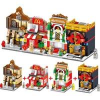 移动端:汇奇宝 迷你街景系列 城市商业街-随机单盒-170+颗粒