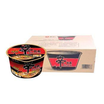 农心(NONG SHIM) 辛拉面Black 方便面(可微波炉加热食用) 碗面泡面速食零食品 101g*16