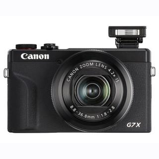 Canon 佳能 G7X 系列 Mark III/a7x3 数码相机 f1.8-2.8 2010万 官方标配版 黑色