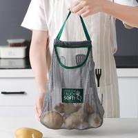 厨房可挂式果蔬收纳网袋洋葱生姜大蒜蔬菜镂空透气多功能便携挂袋