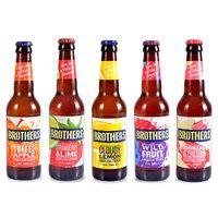 英国原装进口兄弟西打酒 苹果味 柠檬味 草莓味 野果味 5瓶兄弟西打组合