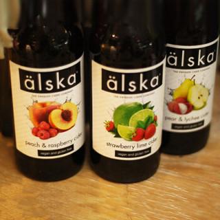 英国艾斯卡Alska西打酒水蜜桃树莓味水果啤酒 进口啤酒果啤330ml*6瓶装
