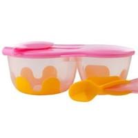 银联专享:B.box snack pack 便携带勺餐盒(粉橙色)