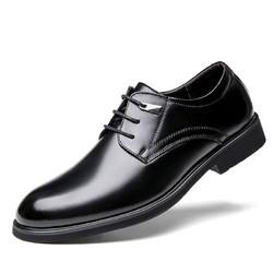 MULINSEN 木林森 男士内增高休闲皮鞋 M8190508 黑色 37