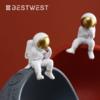 BEST WEST 创意太空人干果盘 半月球