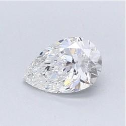 Blue Nile 0.5克拉梨形切割钻石 (切工VG、成色F、净度VVS1)