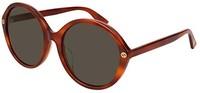Gucci 棕色圆框女式太阳镜 - GG0023SA-005