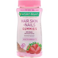 Nature's Bounty 护发护肤护甲软糖 草莓味 80粒