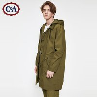 C&A男士中长款连帽风衣宽松工装夹克外套2020春季新款CA200225300