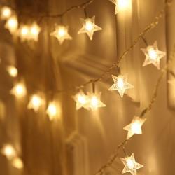 钱康 LED小彩灯 星星暖色 2米10灯 *3件