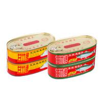 甘竹牌 豆豉鲮鱼罐头 227g*2罐+豆豉鱼罐头 184g*2罐