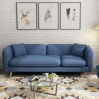 JANNING 簡寧 簡約北歐小型布藝沙發組合 三人位(180cm)