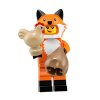 乐高LEGO 第十九季 71025 抽抽乐 益智拼装积木玩具 人仔 大小4cm左右 狐狸女孩(剪口确认)