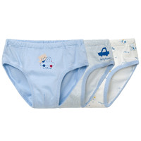 Les enphants 丽婴房 儿童三角内裤 3条装
