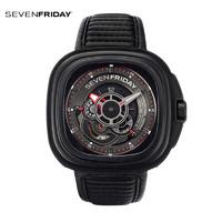 sevenfriday正品瑞表7个七个星期五男士皮带机械手表P3B/01
