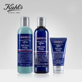 Kiehl's 科颜氏 男士保湿护肤套装 3件套装 (洁面嗜喱250ml+爽肤水250ml+保湿乳液75ml)