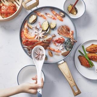 咱家 TJQDD28 麦饭石煎炒锅 28cm