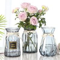 若花 园艺玻璃花瓶 3件套